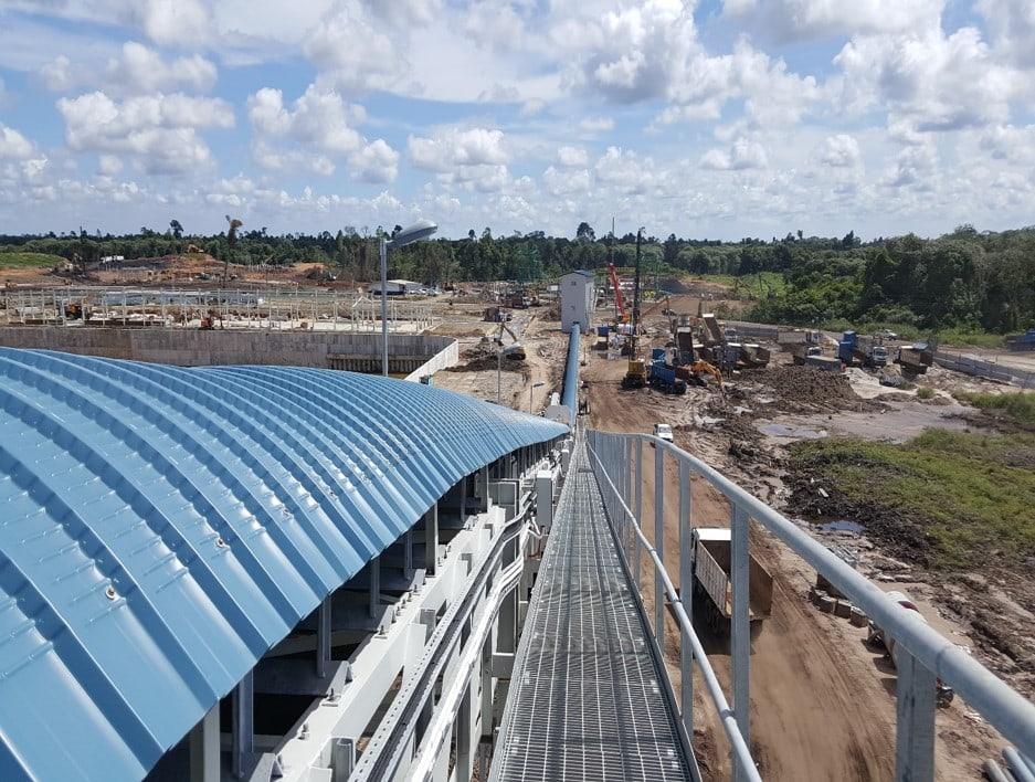 Balingian Coal Power Plant - External Coal Conveyor Belt System